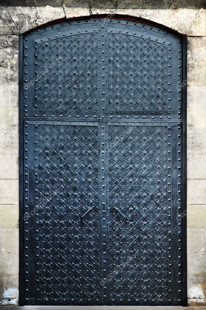 Forged metal doors  Stock Photo #11864207