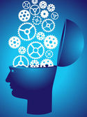 The brain as a gear — Stock Vector