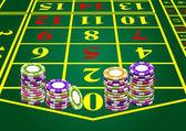 Casino chips — Stockvector