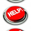 Help and delete button — Stock Photo