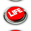 Life and death button — Stock Photo