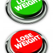 Lose weight button — Stock Photo