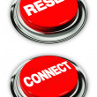 Reset and connect button — Stock Photo #11879031