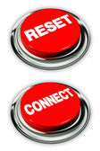 Reset and connect button — Stock Photo