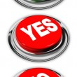 Yes and no button — Stock Photo