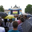 Fan-zone on Euro-2012 — Stock Photo
