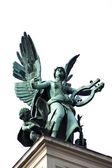 The statue symbolizes the genius of comedy — Stock Photo
