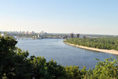 Dnipro river in Kyiv — Stock Photo