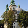 Catholic Cathedral on Shevchenka str in Ternopil - Stock Photo