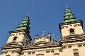 Catedral no centro de ternopil — Foto Stock