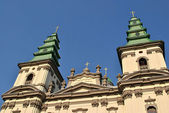Cathedral on the center of Ternopil — Stock fotografie