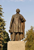 Monument to A.S. Pushkin in Ternopil — Stock Photo