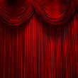 Red velvet stage theater curtains — Stock Photo #11334661