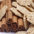 Cinnamon sticks and cereal — Stock Photo #11363038