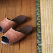 Tatami and slipper — Stock Photo