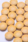 Orange Medical capsules — Stock Photo