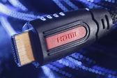 HDMI plug & cable — Stock Photo