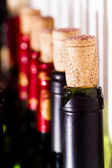 Cork and red wine — Stock Photo