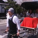 Постер, плакат: Rickshaw in japan