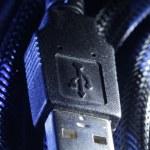wtyczki USB z przewodem — Zdjęcie stockowe