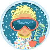 Snowboarder — Stockvektor