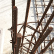 Rebar in construction — Stock Photo