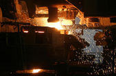 Molten Steel in Factory — Stock Photo