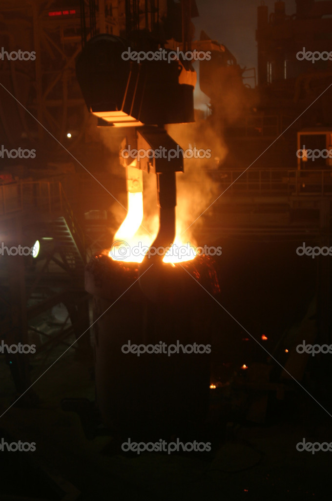 Molten Steel in factory — Stock Photo #11268380