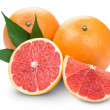Grapefruit with slice detail — Stock Photo #11489531