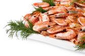 Boiled shrimp — Stock Photo