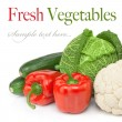 Composition fresh organic vegetables — Stock Photo