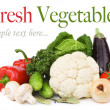 Composition with variety of raw fresh organic vegetables — Stock Photo #11491054