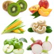 Set of fruits and vegetables - Stock Photo