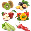 Stok fotoğraf: Set of fruits and vegetables