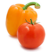 Composition of pepper and tomato — Stock Photo