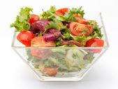 新鮮なサラダ ボウルのクローズ アップ — ストック写真