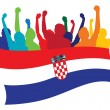 Croatia fans vector illustration — Stock Vector