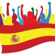 Spain fans vector illustration — Stock Vector