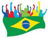 Brazil fans vector illustration — Stock Vector