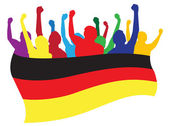 Germany fans vector illustration — Stock Vector