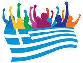 Greece fans vector illustration — Stock Vector