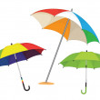 Set of umbrellas vector illustration — Stock Vector #11264824