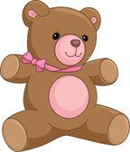 Happy bear vector illustration — Stock Vector