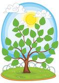 Tree vector illustration — Stock Vector