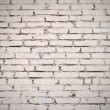 White painted old brick wall — Stock Photo