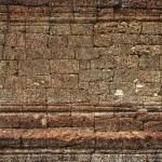 Ancient stone wall in Angkor Wat — Stock Photo