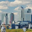 Royalty-Free Stock Photo: London City with Canary Wharf from Greenwich