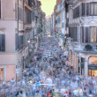 Via Condotti, Roma, from the Piazza di Spagna - Stock Photo