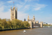 Houses of Parliament upon Thames River, London — Stock Photo