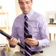 At work on the phone — Stock Photo